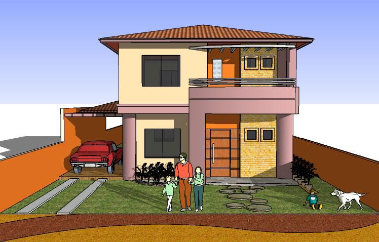 Fachadas De Casas Modernas De Dos Pisos Extremely Creative - Fachada-de-casas-de-dos-plantas